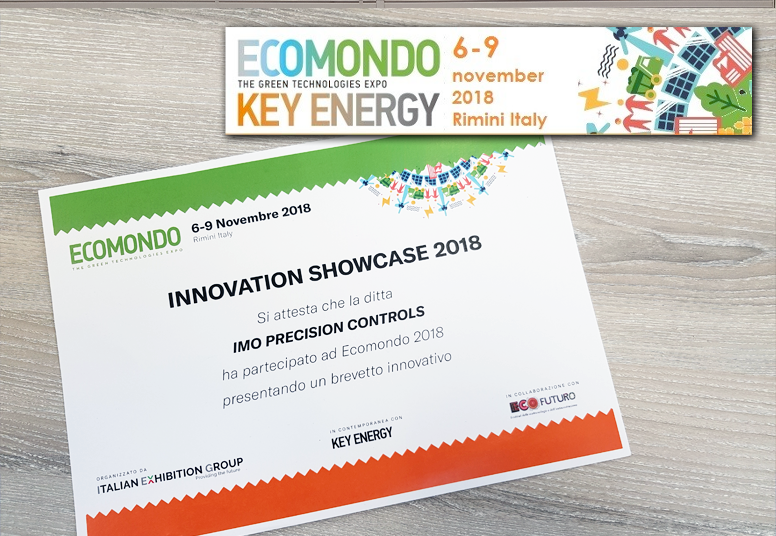 IMO Recognised for Innovation at Key Energy 2018, Rimini, Italy