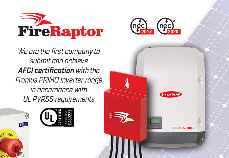 IMO FireRaptor Achieves AFCI Certification